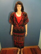 Size 10 multi-color TRIBAL PRINT LAYERED dress by PHOEBE