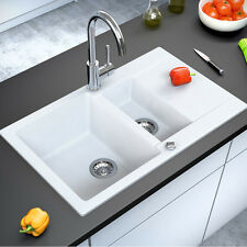 BERGSTROEM Lavello della cucina in granito lavello della cucina 800x495 bianco
