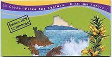 CARNET 12 TIMBRES VALIDITE PERMANENTE / FLORE DES REGIONS / 291 à 302 Y&T -2009