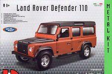 LAND Rover Defender 110 Die-cast metal model AUTO KIT DA BURAGO-SCALA 1:32