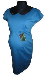 Womens Sexy Collar Maternity Dress Ladies Pregnancy Comfortable Short Dress NEW