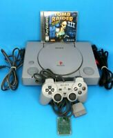 Sony Playstation PS1 Console Bundle w/Controller, Memory Card & Tomb Raider 3