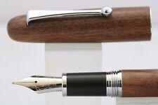 Jinhao Tao Wood No. 9035 Medium Fountain Pen with Chrome Trim