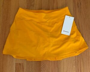 """Lululemon Pace Rival Mid Rise Skirt Tall 15""""  size 6 Clementine CLNT NWT  2021"""