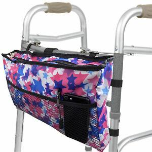 vtarp  Zimmer Frame Bag - Walker Water Resistant Accessory Basket Provides Hands