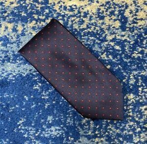 NEW Brioni Navy Blue Red Polka Dots Handmade Silk Necktie Italy