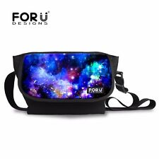 Lady Men Large Messenger Shoulder Bag Trendy Galaxy Crossbody Satchel Bag Travel