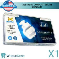 Orthodontic Dental Composite Aesthetic Brackets Braces Kit Roth Morelli 20pcs