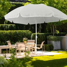 Beige Gartenschirm 2m Rund Sonnenschirm Strandschirm Schirm Neigefunktion Garten