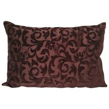 "Dark Brown Brocade Upholstery 14x24"" Decorative/Throw Pillow Case/Cushion Cover"