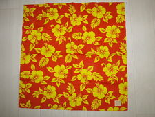 BANDANA Hibiscus Handkerchief Orange Made in Japan New Free Shipping