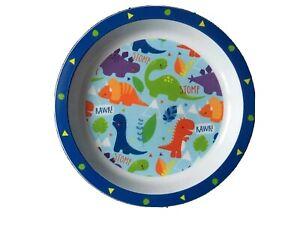 Kids Dinner/Lunch Plate Dinosaur Dino Blue White Children Toddler Food Mealtime