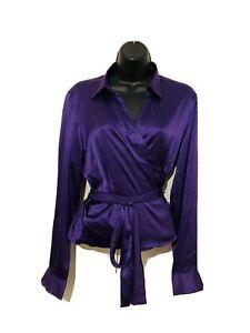 Hobbs Women Wrap Shirt, Size 16