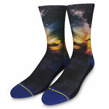 Merge4 Men's Rainbow Wave Classic Crew Socks Black Footwear Clothing Apparel