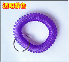 Spiral Wrist Coil Key Chains / New in Sealed Bag / Free shipping Light purpleA21