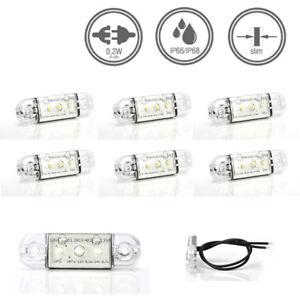 LED-MARTIN® 6er Sparset Umrissleuchte WEISS 12/24V Begrenzungsleuchte Positionsl