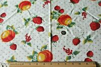 "Genuine Vintage c1940 Novelty Fruit Cotton Feedsack Fabric~L-11"" X W-36"""