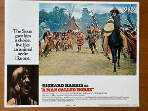 A MAN CALLED HORSE-RICHARD HARRIS-1970-LOBBY CARD #7  Native American Sioux.