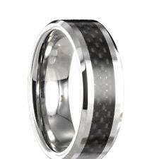 Wolfram Carbon Ring Partnerring Freundschaftsring Ehering + Innen Gravur 14070
