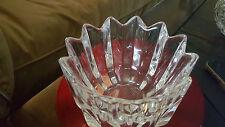 Vintage Orrefors Sweden signed  Crystal Fleur Bowl Candy Dish