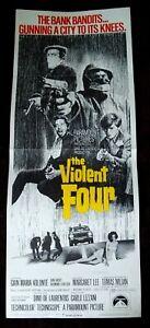 The Violent Four 1968 Vintage Insert Poster Gian Maria Volonte Margaret Lee