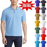 Men's Dri-Fit Causal Cotton Polo Shirt Jersey Short Sleeve Sport Causal Golf T
