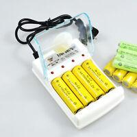 4 slots Rechargeable Batteries Charger For AA AAA Ni-MH/Cd Battery EU/UK/AU Plug