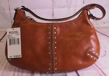 MICHAEL KORS Astor LEATHER Brown Studded Hobo Small PURSE Bag NEW WITH TAG $148