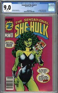 Sensational She-Hulk #1 CGC 9.0 VF/NM Newsstand Variant WHITE PAGES
