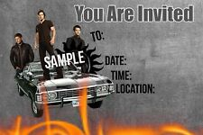 Supernatural Party Invitations with matching envelopes, birthday, 12pack