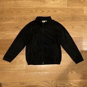 NEW Bass Pro Shop Black Fleece Full Zip Sweatshirt Jacket Boys Size Large 10-12