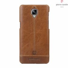 Pierre Cardin Luxury Italian Vintage Leather Back Case Cover for Oneplus 3/3T