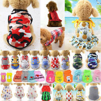 Summer Cute Pet Dog Cat Clothes Puppy T Shirt Clothing Small Dog Chihuahua Vest