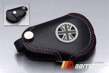 Union Jack UK Black Genuine Leather Key Cover for BMW MINI Cooper S JCW Clubman