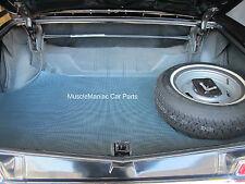 1966-1967 Chevy Impala Convertible RUBBER TRUNK MAT Aqua Houndstooth Ptrn 66 67