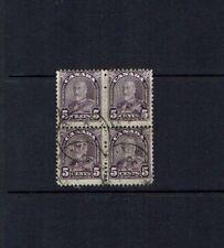 Canada: 1930, King George V definitive, 5c violet, used block x 4