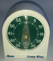 VINTAGE KITCHEN TIMER GREEN FACE DECOR 60 MINUTES