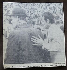 1970's Newspaper Clipping Tom Landry & Duck Nolan