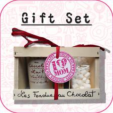 """""""per madre/Mother's Day"""" Cioccolato Fonduta + MINI MARSHMALLOW Set Regalo-Design 7"""