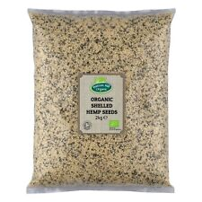 Organic Shelled (Hulled) Hemp Seeds 2kg Certified Organic