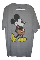 MICKEY MOUSE Heather Gray T SHIRT short sleeve T Shirt Mens size 2XL XXL