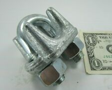 "9/16"" Forged Galvanized Steel Cable Clamps, Wire Rope, U-Bolt Rigging Lifting"