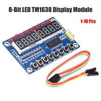 1-10pcs 8-Bit LED Digital Tube 8 Keys TM1638 Display module for AVR Arduino ARM