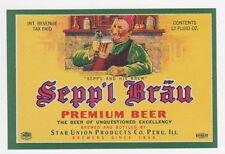 Sepp'l Brau Premium Beer IRTP Label