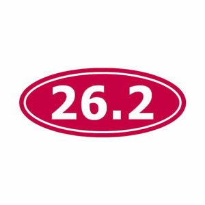 Marathon 26.2 - Vinyl Decal Sticker - Multiple Color & Sizes - ebn444
