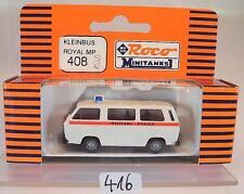 Roco minitanks 1/87 No. 408 VW Volkswagen t3 Bus Royal Military Police neuf dans sa boîte #416