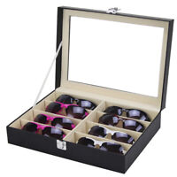 Sunglasses Eyeglasses Glass Jewelry Display Box Case Storage Organizer 8 Slots