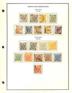 [OP7206] Bosnia and Herzegovina lot of stamps on 12 pages