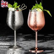 1/2Pc 500-600ml Shatterproof 304 Stainless Steel Wine Glasses Goblets Copper Hot