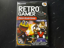 RETRO Gamer volume 1 PC NUOVO SIGILLATO (5 ARCADE re-makes di CLASSIC ARCADE GAMES)